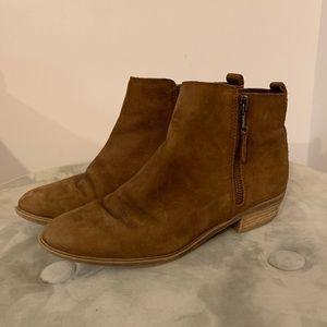 Ralph Lauren brown leather booties